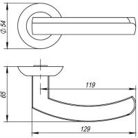 Ручки дверные ALFA AR CP-8 Fuaro (квадрат 140)