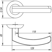 Ручки дверные ALFA AR SN/CP-3 Fuaro (квадрат 140)