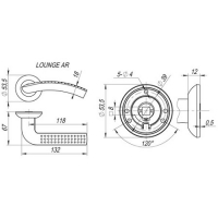 Ручки дверные LOUNGE AR SN/CP-3 Fuaro (квадрат 130)