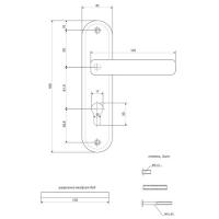 Ручки на планке Apecs HP-61,5.1023-AL-NIS