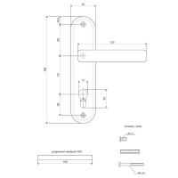 Ручки на планке Apecs HP-70.1223-AL-NIS
