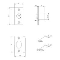 Шариковый фиксатор Apecs R-0001-CR (хром)