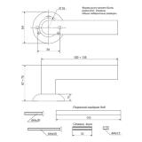 Ручки дверные H-0557-Z-CF Apecs Premier