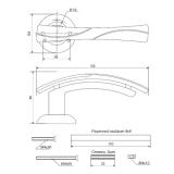 Ручки дверные H-0597-Z-CRM/DC Apecs Premier