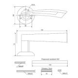 Ручки дверные H-0599-A-DC Apecs Premier