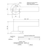 Ручки дверные H-0824-A-G Apecs