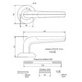 Ручки дверные H-0832-А-MB Apecs