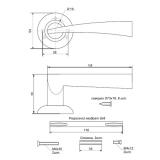 Ручки дверные H-0880-А-BN Apecs