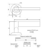 Ручки дверные H-0892-A-MB Apecs