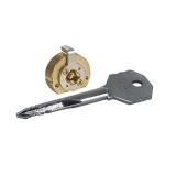 Цилиндровый механизм Kale 164 F5 с крестообразными ключами