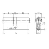 Цилиндровый механизм Kale 164 GN 68мм (26-10-32) латунь