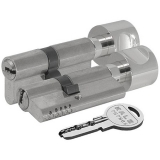 Цилиндровый механизм Kale 164 OBS SC 80мм (30-10-40) никель