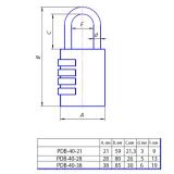 Замок навесной PDB-40-38 Apecs (кодовый)