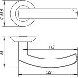 Ручки дверные ALFA TL ABG-6 Punto