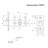 Защелка Apecs 5400-P-AB (бронза)