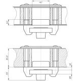 Замок накладной Барьер-3Р