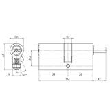 Цилиндровый механизм Гардиан GB 112(56/56V) Ni (никель)