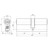 Цилиндровый механизм Гардиан GB 82(41/41) Ni (никель)