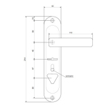 Ручки на планке Avers HP-42.0123-S-C-CR-L