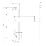 Ручки на планке Apecs HP-85.0101-AC