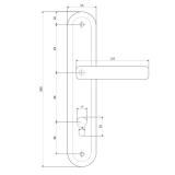 Ручки на планке Apecs HP-85.0423-CR