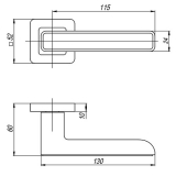 Ручки дверные MARS QR SN/WH-19 Punto