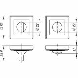 Ручка поворотная Punto BK6 QL SN/CP-3 (мат. никель/хром)