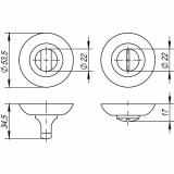 Ручка поворотная Punto BK6 TL SN/CP-3 (мат. никель/хром)