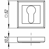 Накладки под цилиндр Punto ET QL SN/CP-3 (мат. никель/хром)