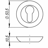 Накладки под цилиндр Punto ET TL ABG-6 (бронза)