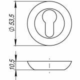 Накладки под цилиндр Punto ET TL SN/CP-3 (мат. никель/хром)
