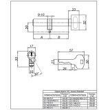 Цилиндровый механизм SC-90(35C/55)-C-NI Apecs