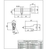 Цилиндровый механизм SM-90-C-G Apecs
