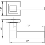 Ручки дверные TECH QL CF-17 Punto