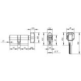Цилиндровый механизм PUNTO Z402/80mm (35+10+35) CP хром