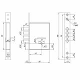 Замок врезной Меттэм ЗВ8 190.0.0 (5 ключей)
