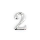 Цифра дверная Apecs DN-01-2-Z-CR (хром)