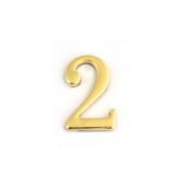 Цифра дверная Apecs DN-01-2-Z-G (золото)