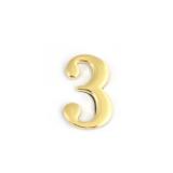 Цифра дверная Apecs DN-01-3-Z-G (золото)