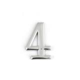 Цифра дверная Apecs DN-01-4-Z-CR (хром)