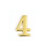 Цифра дверная Apecs DN-01-4-Z-G (золото)