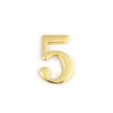 Цифра дверная Apecs DN-01-5-Z-G (золото)