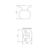 Ручка-защелка APECS 6093-01-AB (бронза)