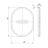 Декоративная накладка FUARO ESC 475 CP (хром)