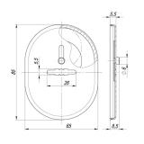 Декоративная накладка FUARO ESC 476 CP (хром)