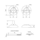 Фиксатор APECS WC-0503-CRM (мат. хром)