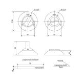 Фиксатор APECS WC-0803-GM (мат. золото)