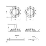 Фиксатор APECS WC-2412-AN (антик)