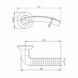 Ручки дверные LOGICA TL SN/CP-3 Punto (квадрат 105мм)