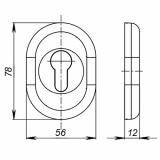 Декоративная накладка FUARO ESC-12C-CP (хром)